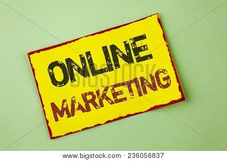 Word Writing Text Online Marketing. Business Concept For Marketing Digital Advertising Social Media