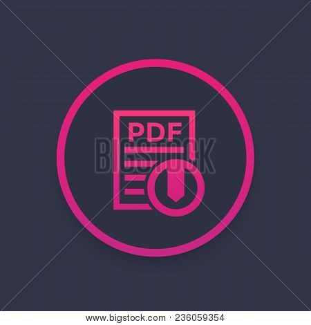 Pdf Download Icon, Eps 10 File, Easy To Edit