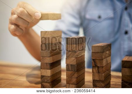 Alternative Risk Concept, Plan And Strategy In Business, Risk To Make Business Growth Concept With W