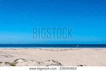 View Of San Pietro A Mare Beach In Sardinia