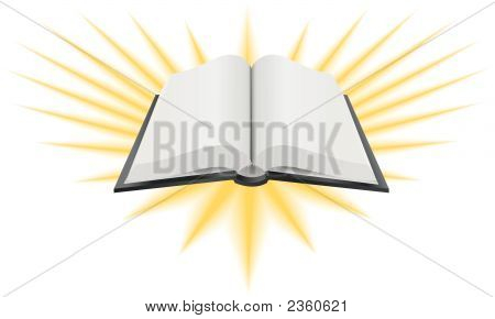 Open Holy Book Illustration