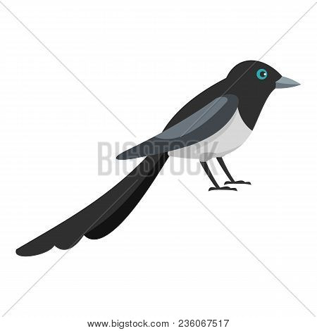 Small Magpie Icon. Flat Illustration Of Small Magpie Vector Icon For Web