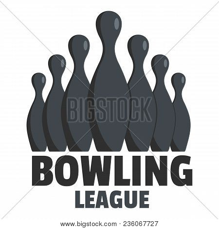 Bowling Event Logo. Flat Illustration Of Bowling Event Vector Logo For Web