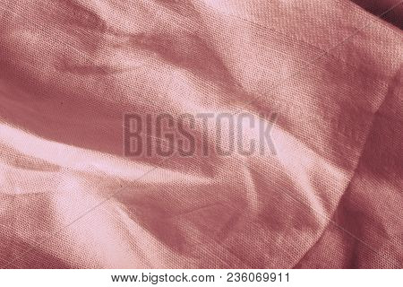 Battered Woven Textile, Textured Background With Space For Your Designing.