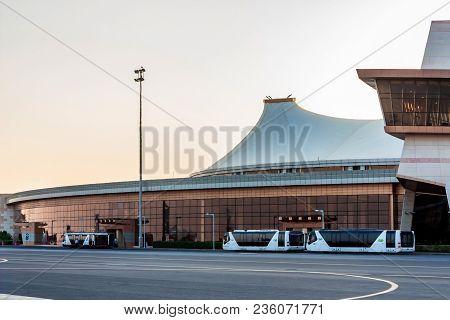 Sharm El-sheikh, Egypt - August 24, 2010: Outside View Of Sharm El Sheikh Airport. It Is The Third-b