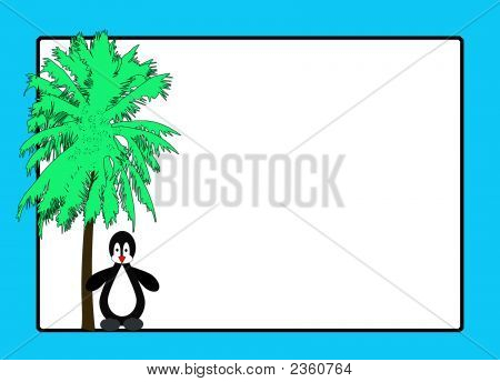 Penguin And Palm Tree