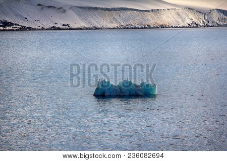 Islands Along British Channel. Glaciers, Icefall, Outlet Glacier, Snowfields, Iceberg And Rock Outcr
