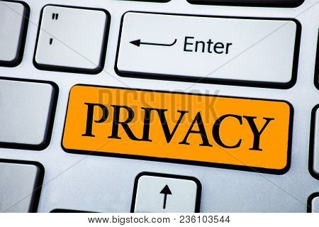 Handwriting Text Privacy. Concept Meaning Right To Keep Personal Matters And Information As A Secret