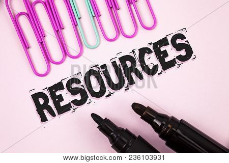 Handwriting Text Resources. Concept Meaning Money Materials Staff And Other Assets Needed To Run A C