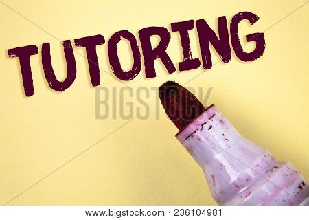 Text Sign Showing Tutoring. Conceptual Photo Mentoring Teaching Instructing Preparing Supporting Giv
