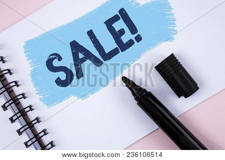 Text Sign Showing Sale Motivational Call. Conceptual Photo Selling Goods At Reduced Prices Make A Se
