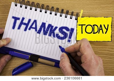 Word Writing Text Thanks Motivational Call. Business Concept For Appreciation Greeting Acknowledgmen
