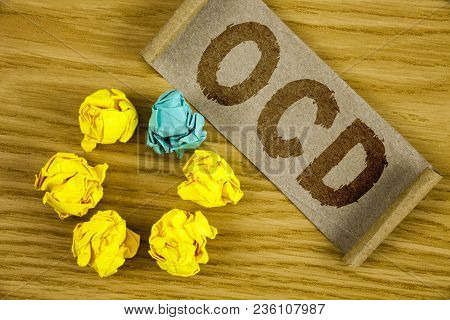 Text Sign Showing Ocd. Conceptual Photo Obsessive Compulsive Disorder Psychological Illness Medical