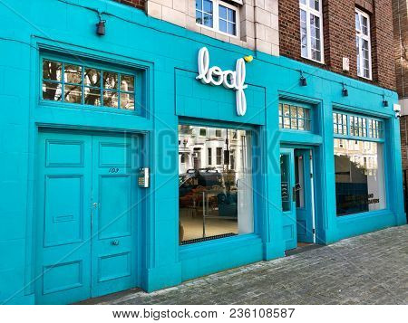 NOTTING HILL, LONDON - APRIL 14, 2018: Loaf contemporary furniture showroom retail outlet in Notting Hill, West London, UK.