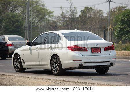 Chiang Mai, Thailand -march 15 2018: Private Car. Bmw 520d. Photo At Road No.1001 About 8 Km From Do