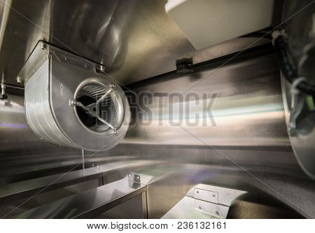 Industrial Fan. Climatic And Ventilation Technology. Abstract Industrial Background.