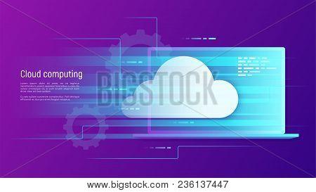 Cloud Computing, Storage, Hosting, Services, Network Management, Data Synchronization Vector Concept