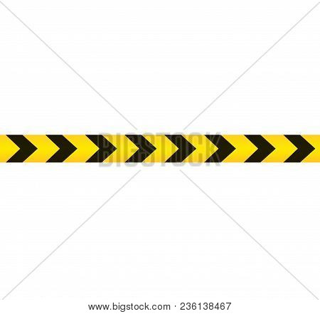 Colored Warning Danger Tape Isolated On White Background, Vector Illustration.