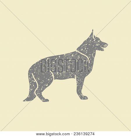 Dog Flat Icon. German Shepard Vector Illustration