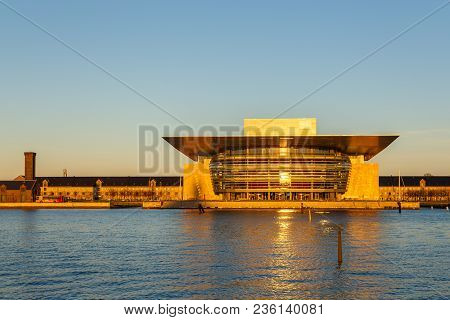 Copenhagen, Denmark- May 03, 2013: View Of The Copenhagen Opera House. The National Opera House Of D