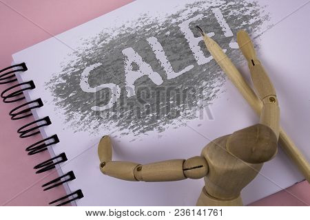 Conceptual Hand Writing Showing Sale Motivational Call. Business Photo Showcasing Selling Goods At R