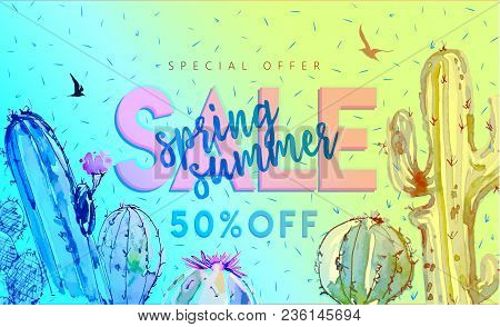 Spring Summer Sale Vector Web Banner Designs And Special Offers For Summer Holiday Store Shopping Pr