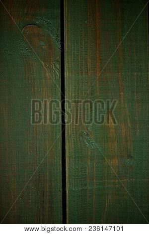 Bright Green Wood Structure As A Background Texture Vignette.