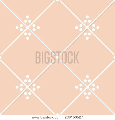 Tile Pastel Pink And White Decorative Floor Tiles Vector Pattern Or Seamless Background