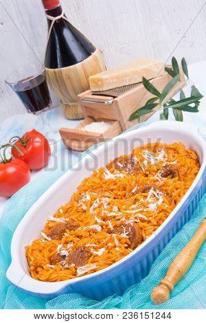 A Frersh And Tasty True Greek Kritharaki