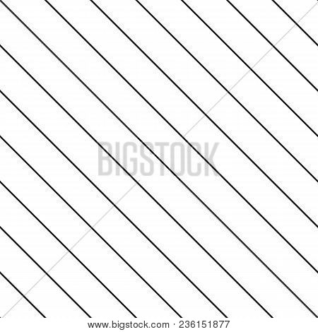 Subtle Vector Stripes Seamless Pattern. Thin Diagonal Lines Texture, 45 Degrees Inclination. Simple