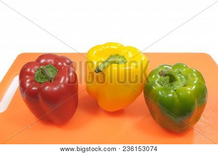 Today We Prepare Three Peppers For A Colorful Dish