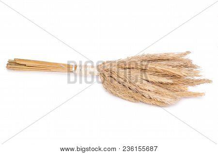 Wheat Bundle Natural On White Background Isolation