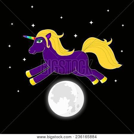 Night Unicorn Vector Photo Free Trial Bigstock