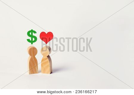 Money Versus Love. Passion Versus Profit. Family Or Career Choice. Family Psychology. Place For Text