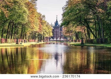 April, 19, 2014, Haarzuilens, The Netherlands: The Park At Castle De Haar Is The Setting Of The Elf