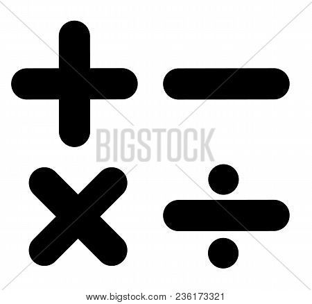 Math Sign On White Background. Math Symbol. Flat Style. Calculator Icon.