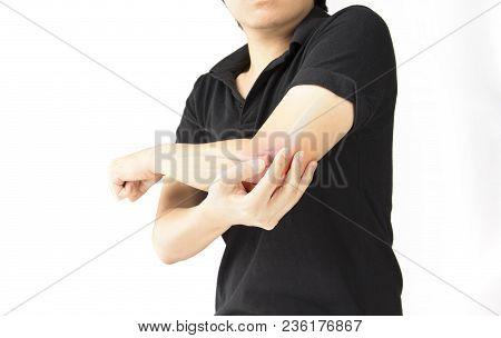 Elbow Bones Injury White Background Elbow Pain