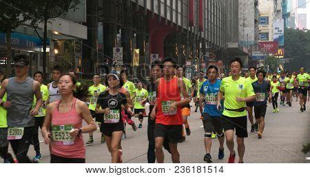 Tsim Sha Tsui, Hong Kong, 21 January 2018:- Standard chartered marathon