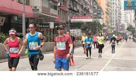 Causeway Bay, Hong Kong, 21 January 2018:- Standard chartered marathon
