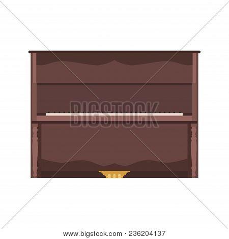 Piano Music Vector Illustration Concert Keyboard Background. Musical Jazz Keys Design. Poster Black