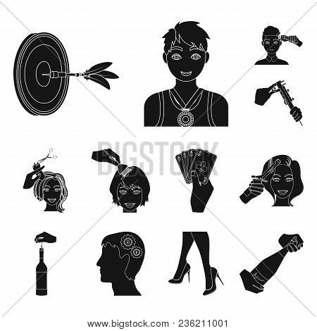 Manipulation By Hands Black Icons In Set Collection For Design. Hand Movement Vector Symbol Stock Il