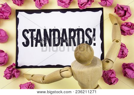 Handwriting Text Standards Motivational Call. Concept Meaning Quality Controls Regulations Guideline