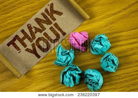 Handwriting Text Writing Thank You Motivational Call. Concept Meaning Appreciation Greeting Acknowle