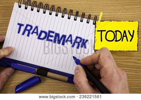 Word Writing Text Trademark. Business Concept For Legally Registered Copyright Intellectual Property