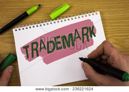 Conceptual Hand Writing Showing Trademark. Business Photo Text Legally Registered Copyright Intellec