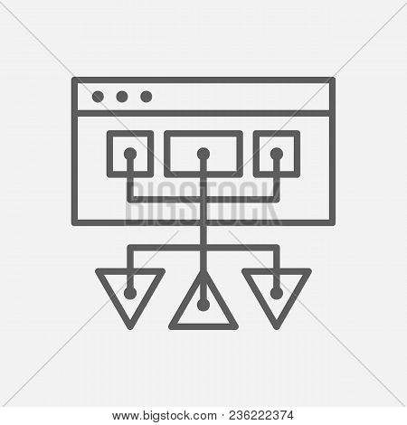 Sitemap Icon Line Symbol. Isolated Vector Illustration Of  Icon Sign Concept For Your Web Site Mobil