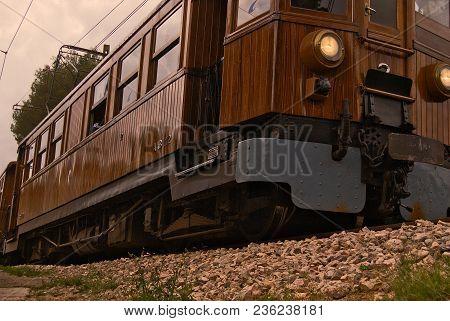 Soller Train In Bunyola, Balearic Islands, Majorca, Spain
