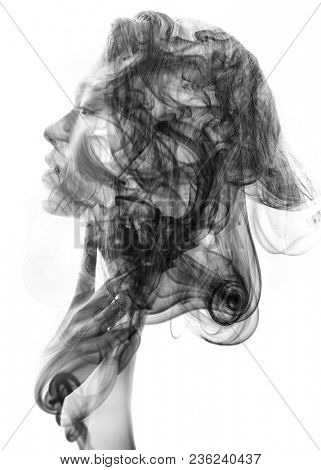 We see through the make up of her skin in a seemingly transparent veil of her being