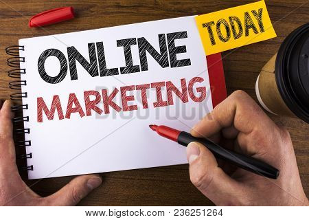Conceptual Hand Writing Showing Online Marketing. Business Photo Text Marketing Digital Advertising