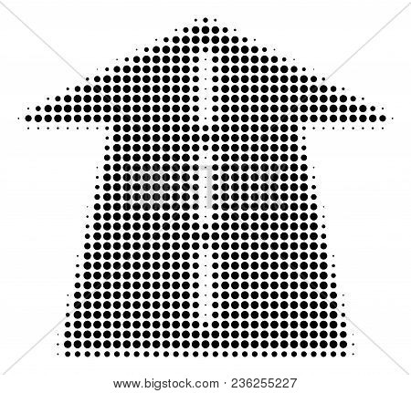 Future Road Halftone Vector Pictogram. Illustration Style Is Dotted Iconic Future Road Icon Symbol O